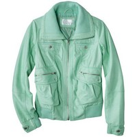 Xhilaration® Knit Trim Bomber Faux Leather Jacket -Assorted Colors