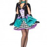 Leg Avenue 3PC Delightfully Mad Hatter Costume