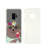 Cool Bear Summer Transparent Silicone Clear Plastic Phone Case for Samsung Galaxy S8 Phone case Samsung Galaxy Phone Covers_ SUPERTRAMPshop (NLA348, Samsung Galaxy S8)
