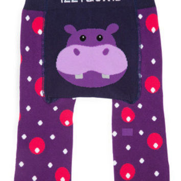 Purple Hippo Baby Legging