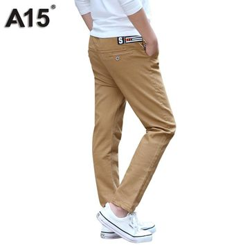 A15 Pants Boys Kids Cotton Long Spring Autumn Big Boy Pants Teen 2017 Children Casual Trousers Boys Clothes Age 10 12 14 16 Year