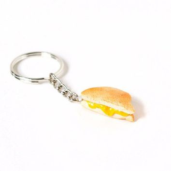Grilled Cheese Sandwich Keychain