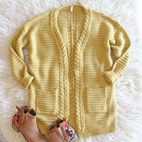 Cozy Bundle Sweater in Mustard