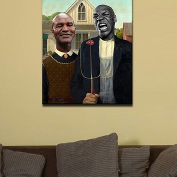 "Mike Tyson Evander Holyfield Dinner Date 16""x24"" Canvas Print"