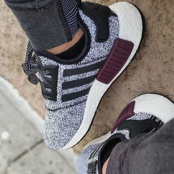 Adidas NMD R1 Champs Exclusive Grey Burgundy BA7841
