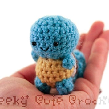 Squirtle Pokemon Amigurumi - MADE TO ORDER