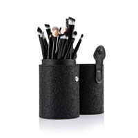 Black Case 20pcs Eye Makeup Powder Foundation Brush with Cosmetic with Gold Storage Case 8 Style Professional  Brushes Set Bag