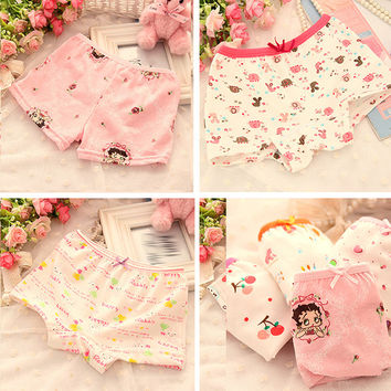 Boy Girls Kids Cotton Cartoon Flower Pajama Underwear Underpant Boxers Short Pants NW