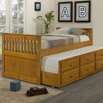 James Captains Bed with Storage and Trundle