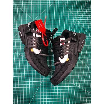 Off White X Nike Air Presto Black Sport Running Shoes
