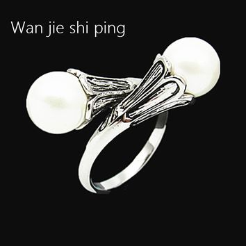 Game of Thrones rings for women Daenerys Targaryen simulated pearl vintage female ring Lovely gift