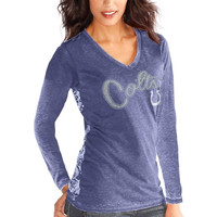 Indianapolis Colts Touch by Alyssa Milano Women's Audrey Long Sleeve T-Shirt - Royal Blue