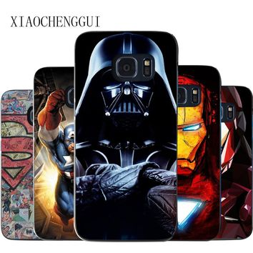 phone cases DC Batman Superman Deadpool Marvel Iron Man PC  Hard Plastic cover Case for Samsung galaxy s3 4 5 s6 s6E s7 s8 s8p