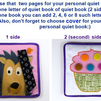 Quiet cloth book Educational toddler soft book with content Handmade eco-friendly book Interactive children busy book for kids Soft for baby