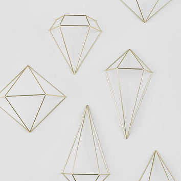 Gold Prism Wall Decor