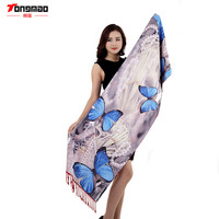 2016 New Autumn and Winter Fashion Casual Ladies Emulation Silk Scarves Printing Double of Cashmere Scarf Shawl Warm Scarf