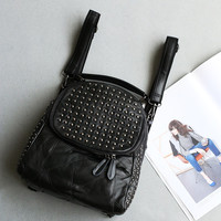 Stylish College Back To School On Sale Casual Hot Deal Comfort Korean Leather Mosaic Backpack [4915788740]