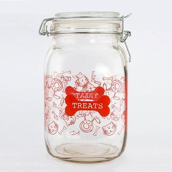Glass Pet Treat Canister