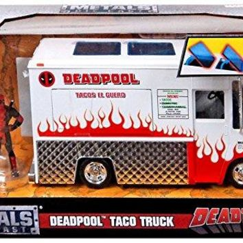 Jada Diecast Metal 1:24 Scale Deadpool Taco Truck 1/24 Scale