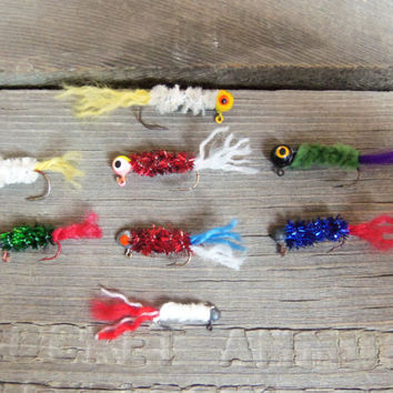 Handmade Handtied Custom Crappie Panfish Fishing Jigs - Gifts for Dad Father's Day Boyfriend Grandpa Fisherman Grandpa