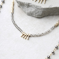 Everlasting Gold and Gunmetal Layered Necklace