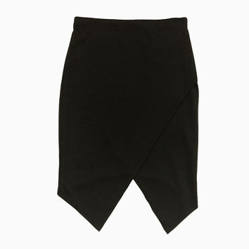 Kellen Foldover Skirt - Black