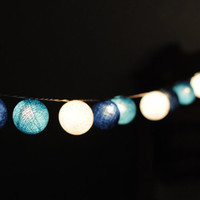 35 cotton ball light 4 meters string light ocean surf beach color patio garland stirng light