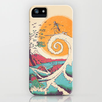Surf Before Christmas iPhone & iPod Case by Victor Vercesi