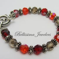 Swarovski Crystal Bracelet with Genuine Silver Bali Beads - Perfectly Accents Jeans, Business Attire, A Special Night Out