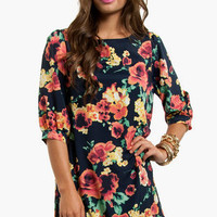 Peony Field Shift Dress $58