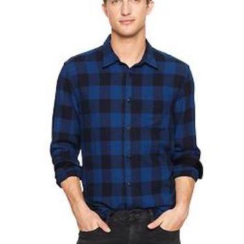 NWT Gap Buffalo Plaid Shirt in Indigo Blue, Size Medium