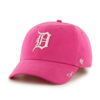 ONETOW MLB Detroit Tigers 47 Brand Womens Pink Hat