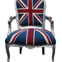 vintage style union jack throne chair by made with love | notonthehighstreet.com