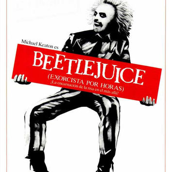 Beetlejuice (Spanish) 27x40 Movie Poster (1988)