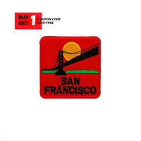 San Francisco Patch - Beautiful Patch - Iron On Patch - Embroidered Patch - Sew On Patch - Patches For Backpacks New #009 Buy1Get1FREE