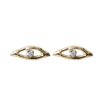Open Eyes Diamond Earring (single) - New Jewelry - Catbird