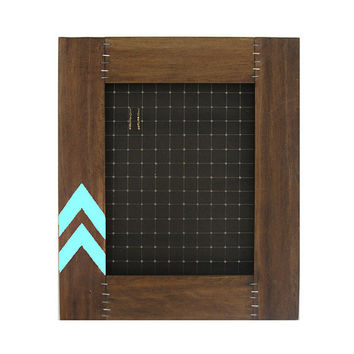 Jewelry Organizer // Earring Display Frame // Store & Organize Jewelry // Reclaimed Wood Furniture // Eco-Friendly //Turquoise Chevron