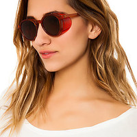 The Retro Flyer Sunglasses in Cherry Red
