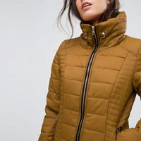 Only Adriatic Tube Quilted Hooded Jacket at asos.com