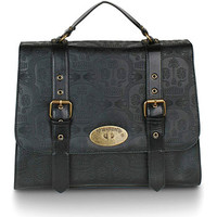 Embossed Skull Satchel Bag