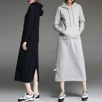 ac PEAPON Winter Home Strong Character Long Sleeve Hats Thicken Hoodies Dress One Piece Dress [9266466636]
