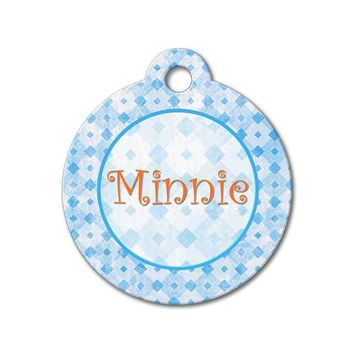Grungy Diamond - Pattern Pet Tags
