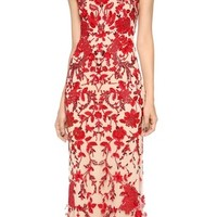 Reem Acra Embroidered Illusion Gown | SHOPBOP