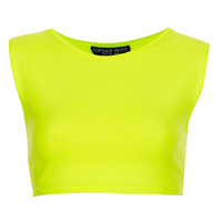 Petite Stretch Sleeveless Crop - Clothing - Topshop USA
