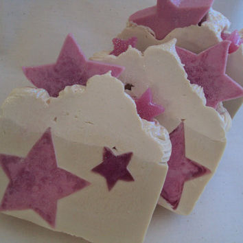 Rock Candy with Shea Butter, Cocoa Butter and Pure Silk Soap Slice / cold process soap