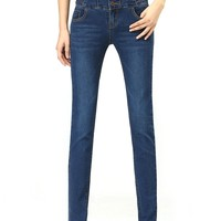 Unique High-Waisted Strechy Skinny Jeans - OASAP.com