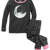 2-Piece Glow-In-The-Dark Moon Snug Fit Cotton PJs