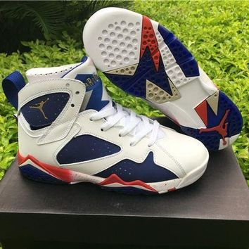 DCCKL8A Nike Air Jordan 7 Retro Tinker Alternate Olympic AJ 7 Cheap Sale JD 7 Discount Women Sports Basketball Shoes