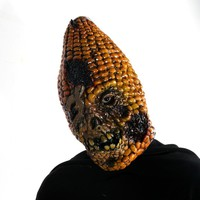 15''Full Face Scary Burn Corn Mask for Cosplay Latex Mask Horror Masquerade Adult Ghost Halloween Theater Props Party XMAS Decor