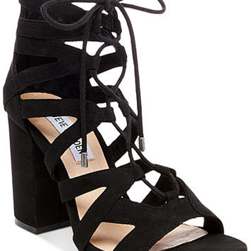 Steve Madden Women's Gal Lace-Up Sandals | macys.com
